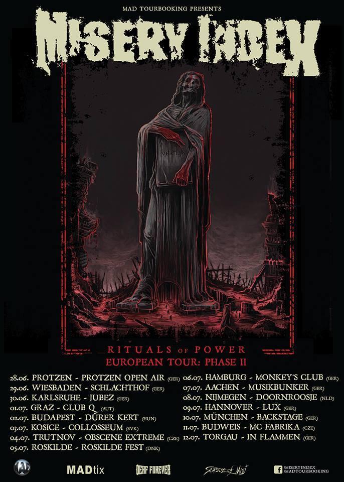 MISERY INDEX update tour dates - Paris Move