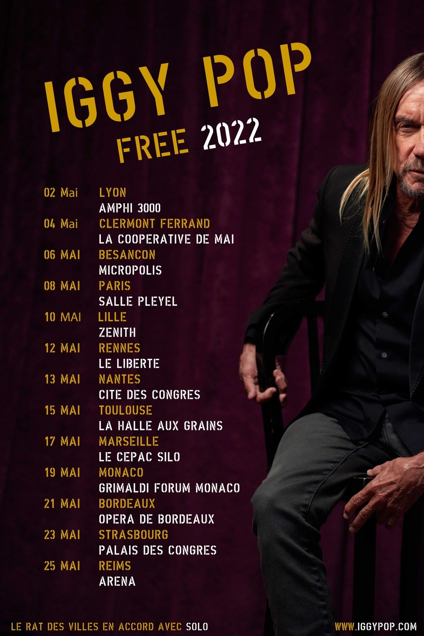 IGGY POP FREE TOUR 2022